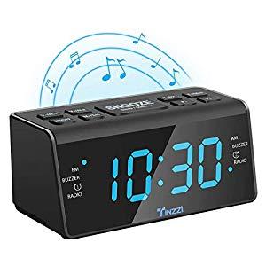 Dual Alarm, UKW, Sleep timer, Gro/ßes Display Philips AJ3123 Radiowecker mit Digital Tuner schwarz//wei/ß